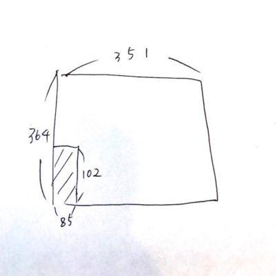 手書き図面の例