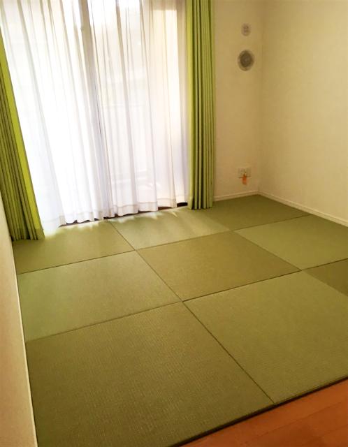フローリングに琉球畳